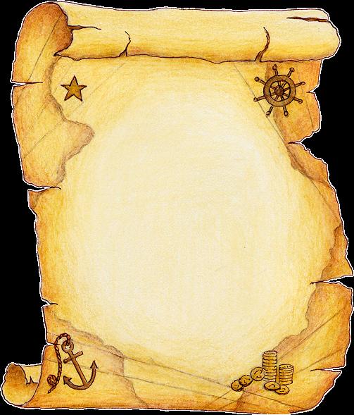 Tubes parchemins page 4 - Carte chasse au tresor ...