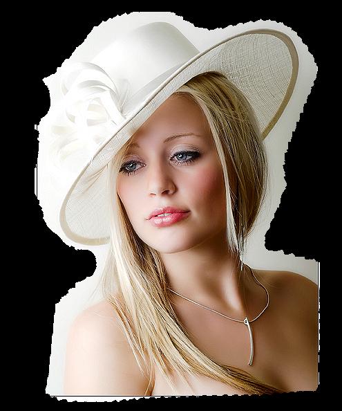 tubes femmes a chapeaux