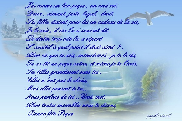 Mes ecrits page 2 - Poeme anniversaire papa ...
