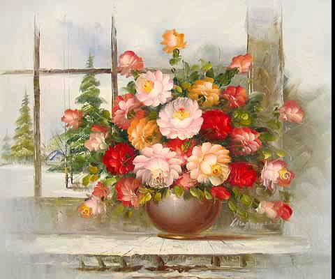 gif vase et roses