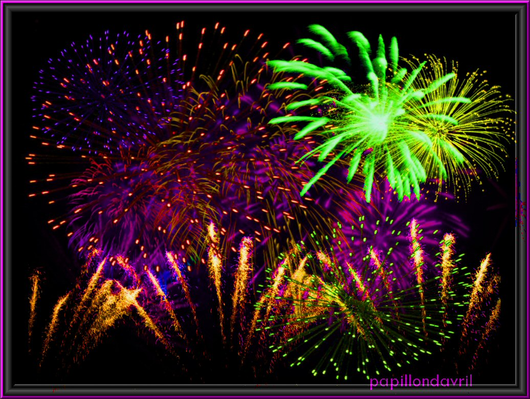 Fonds ecran feux d artifice for Fond decrand